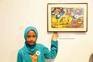 Kiddya dan Amanda Dua Anak Indonesia Ini Menjuarai Lomba Lukis Dunia