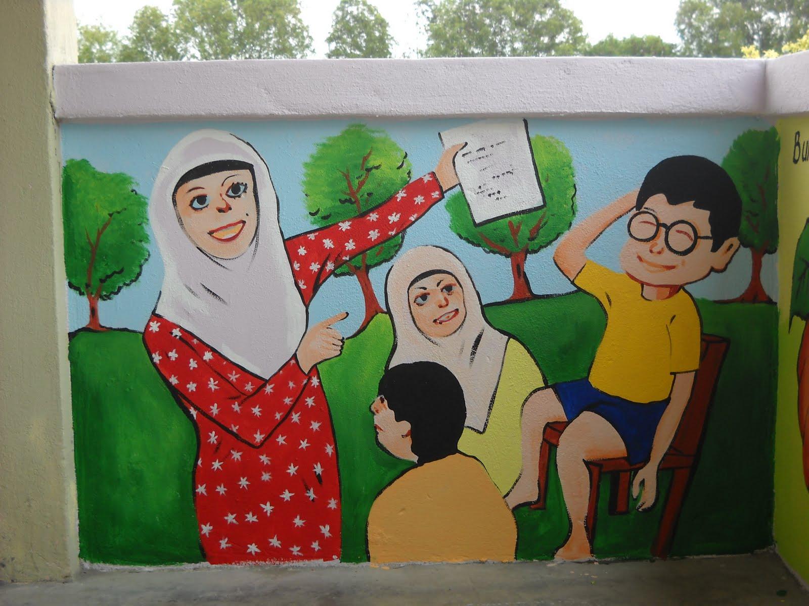 Pelukis mural shah alam pelajar 1 malaysia for Mural kartun