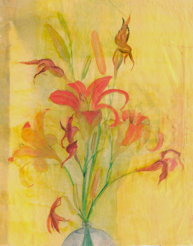daylily watercolor art