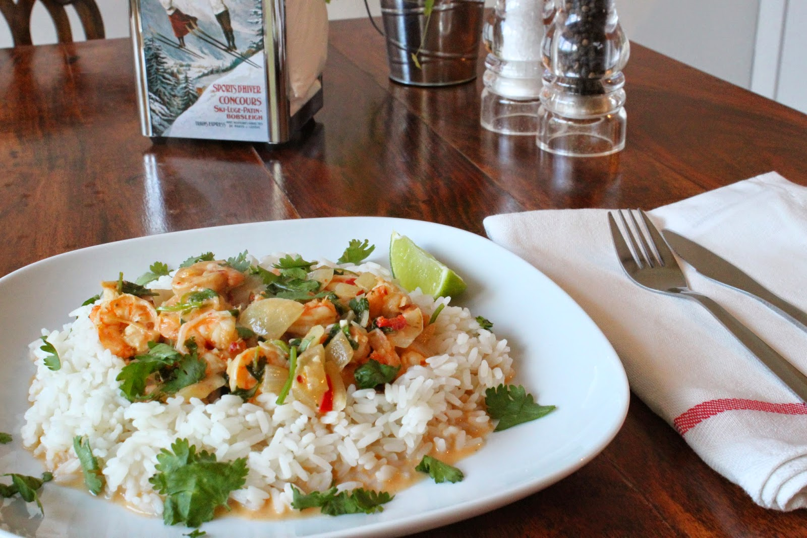 Time to spice things up a little bit   definitely in the kitchen  and  hopefully in the bedroom afterwards  This was a recipe passed on from a  friend as it. Food For Fellas  Ebi Raisukaree  or prawn  coconut  lime and