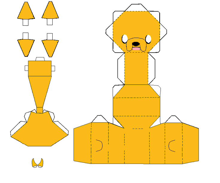 Adventure Time Jake Papercraft
