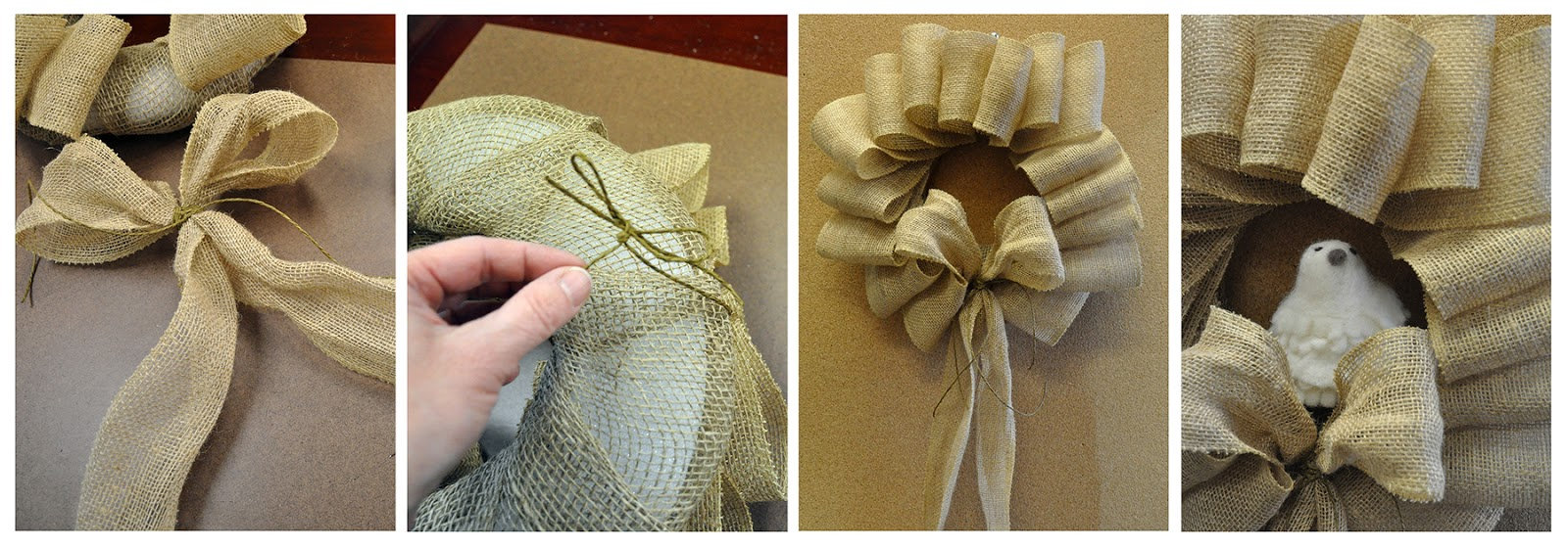 how to make a large burlap bow