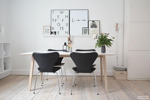 Mesa silla comedor decorar tu casa es for Comedor estilo nordico