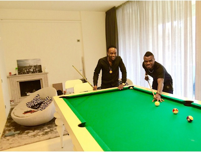Kcee And Manager Soso Soberekon Touch Down In Turkey To Support Nigerian Striker Emenike