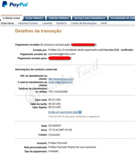 probux paypal pagamento payment dinheiro ganha ganhar internet money make ptc