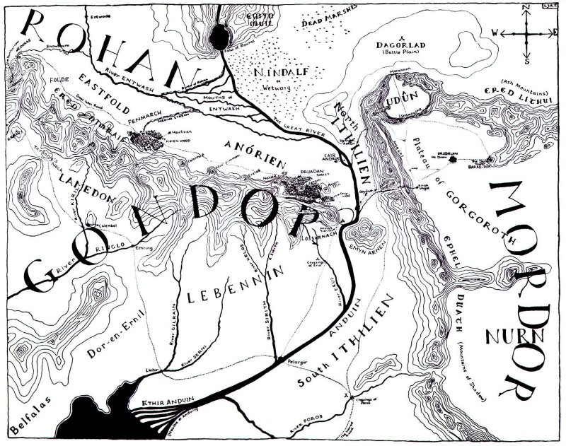 The Lucius Flux on the hobbit map, the lord of the rings map, the silmarillion map,
