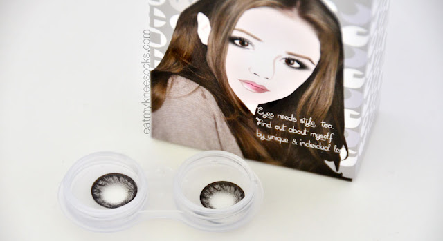 Klenspop's Maxlook SCL Edge Gray circle lenses feature a dramatic effect and unique swirling design.