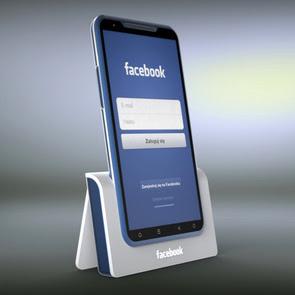 Konsep Ponsel Facebook