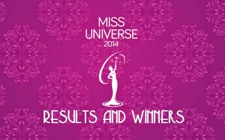 Miss Universe 2014 List of Winners