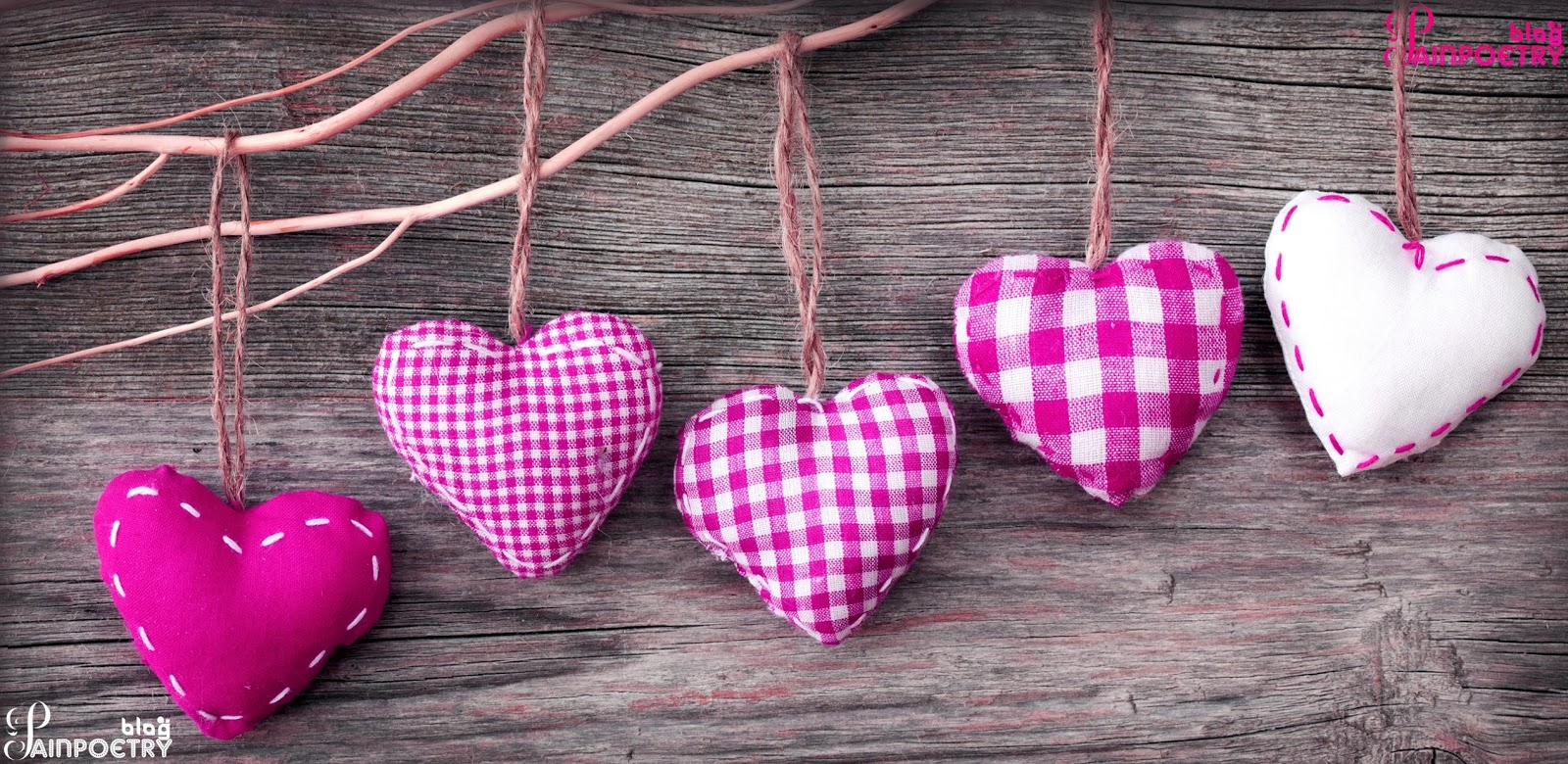 Five-Love-Hearts-Located-On-Wall-Image-HD