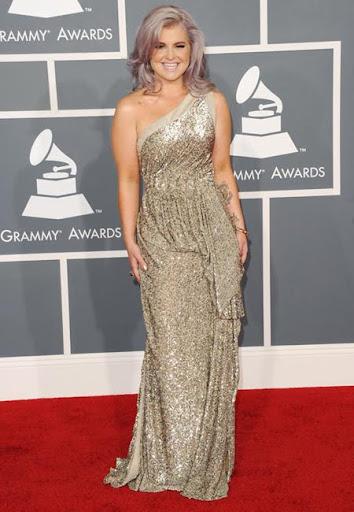 Кели Озбърн в рокля на Tony Ward Грами 2012