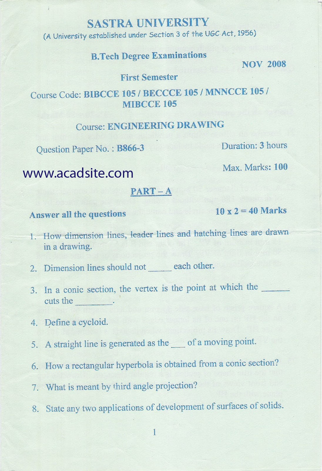 Sastra university previous year ed question paper fandeluxe Images
