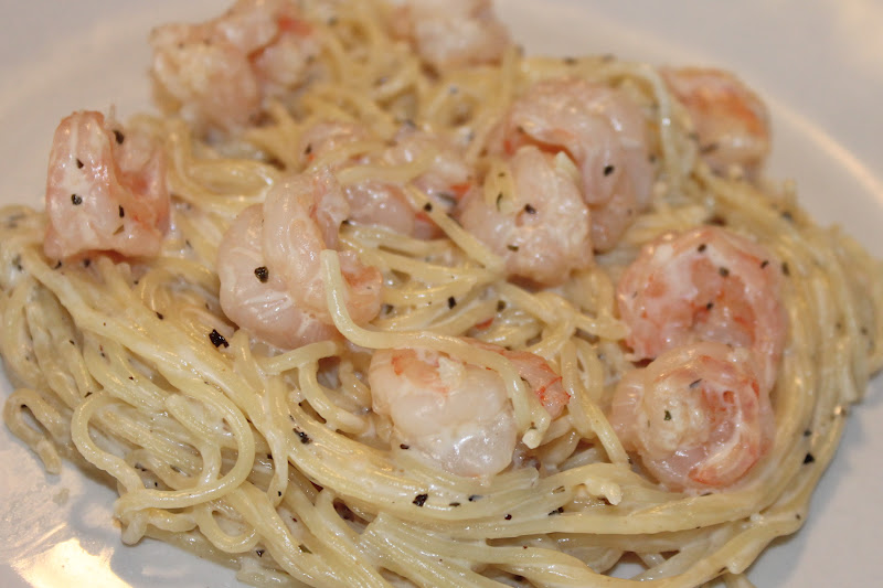 Cooking with Mandy: Buttery Shrimp and Pasta in Cream Sauce