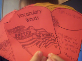 Modern American History Lapbook Vocabulary