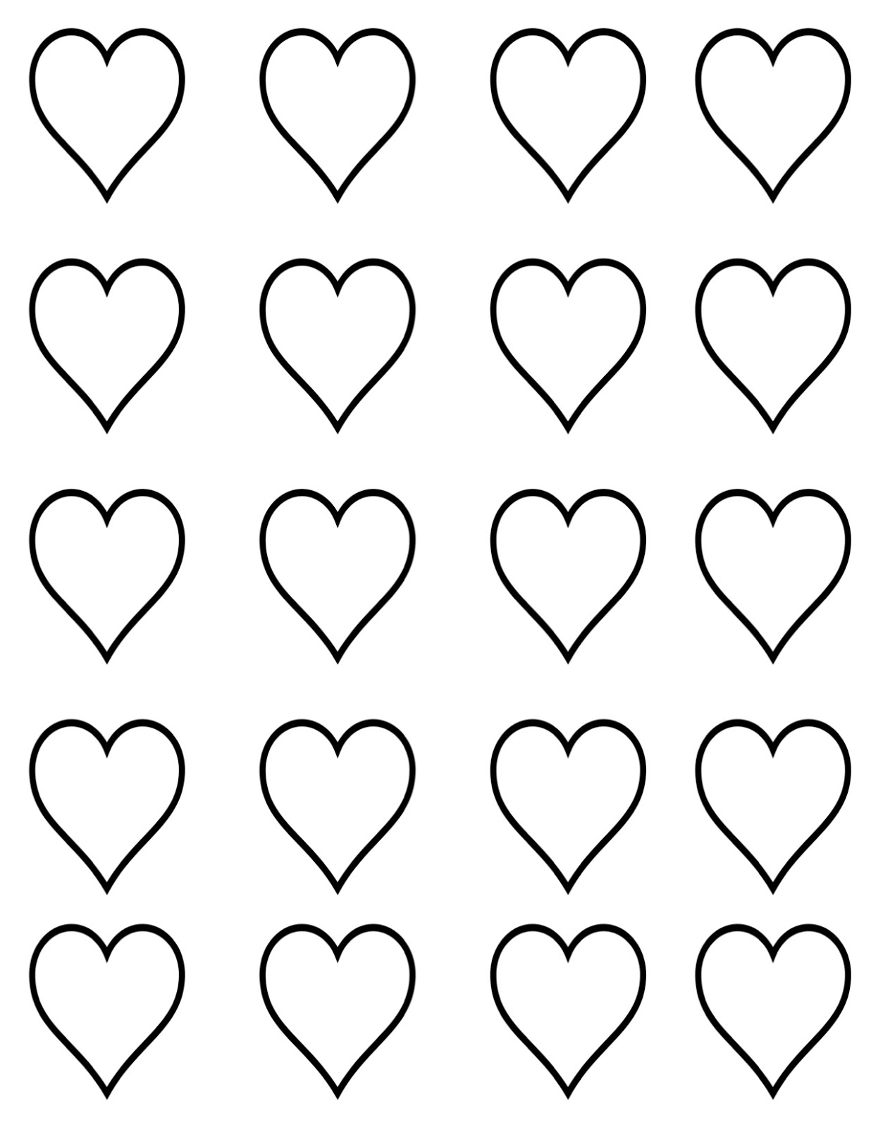 Mini Printable Heart Template Pictures to Pin PinsDaddy – Heart Template