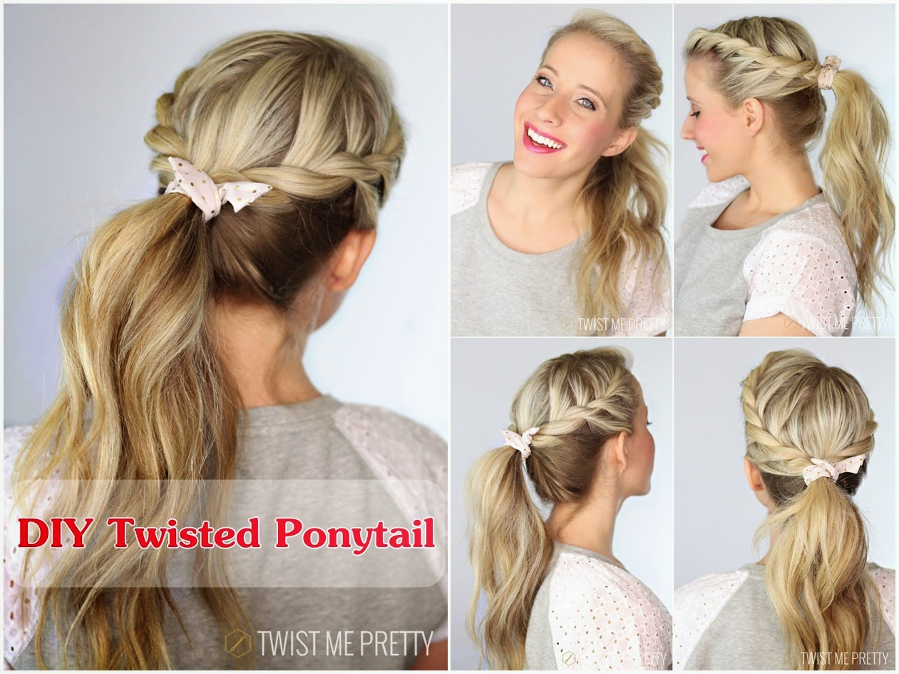 DIY Twisted Ponytail with Video Tutorial