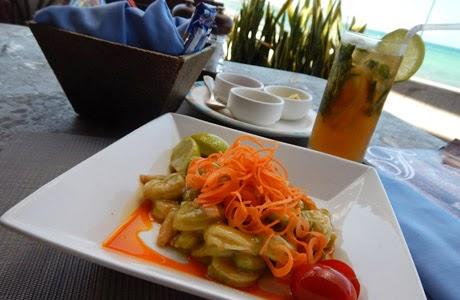 Ceviche de camarán en salsa verde