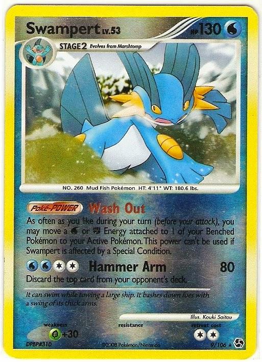 Swampert Pokemon Card