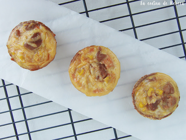 Mini quiches de pavo y maíz