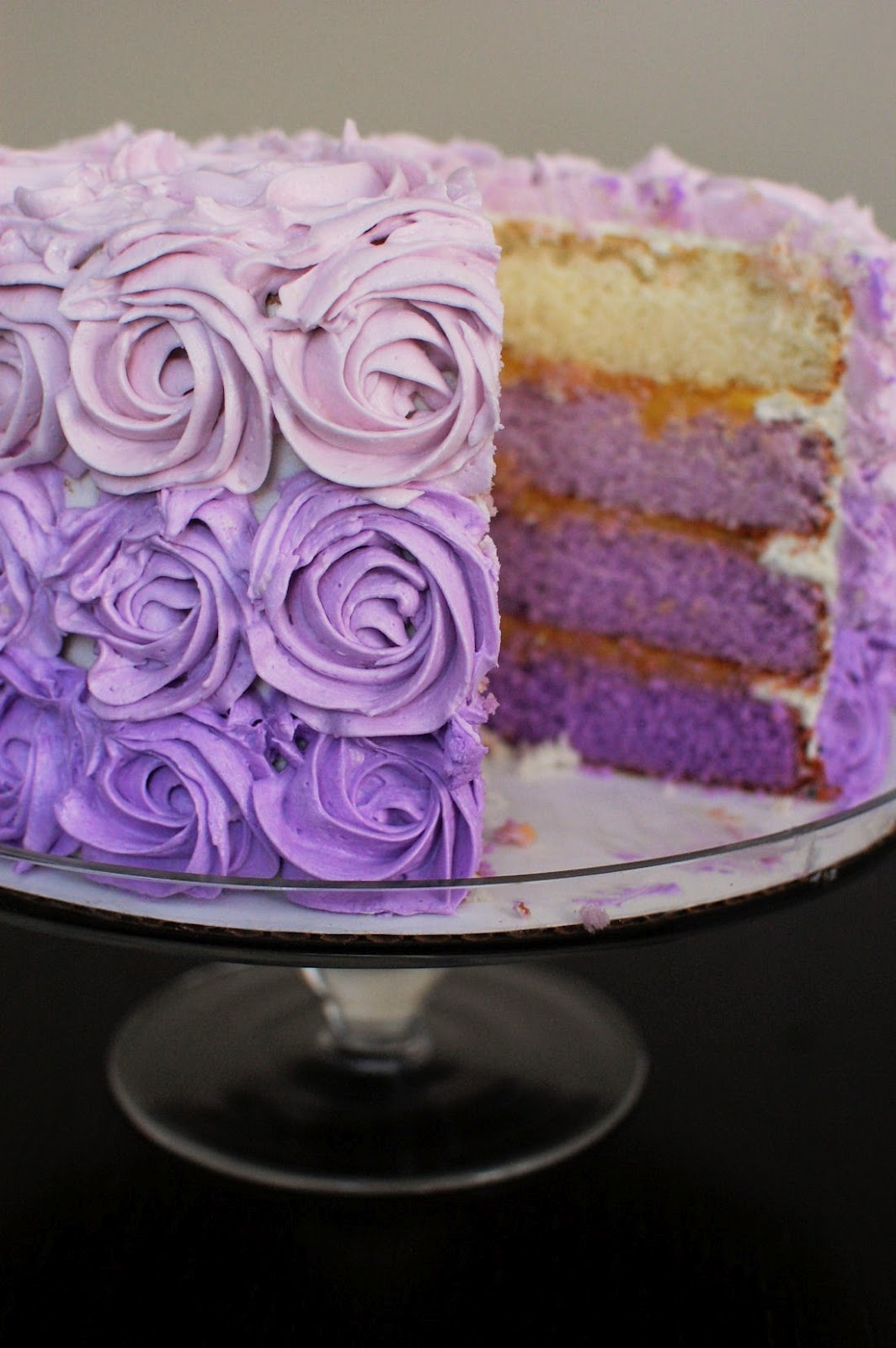 Purple Colour Cake Images : Purple Ombre Cake Beantown Baker
