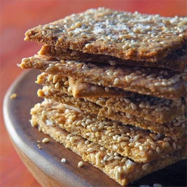 Cheesy Quinoa Crackers