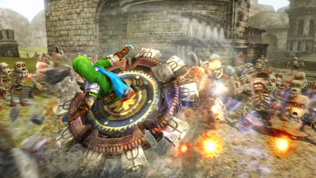 Nintendo Hyrule Warriors Link wielding Spinner Weapon