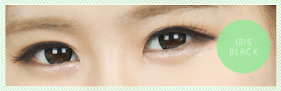 Iris Black Contact Lenses at ohmylens.com