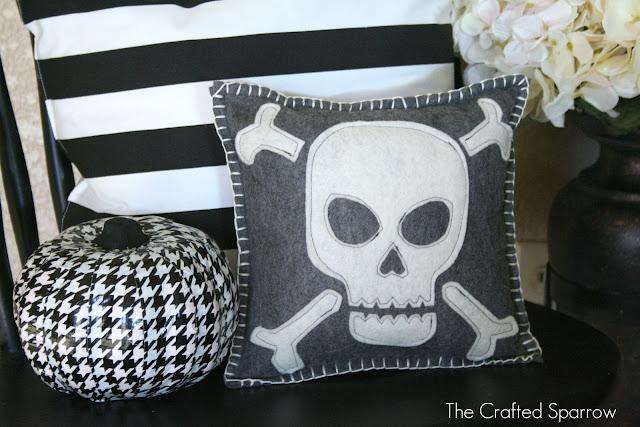 Felt Skull Pillow
