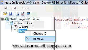 Opción para eliminar imágenes del proyecto de Excel.
