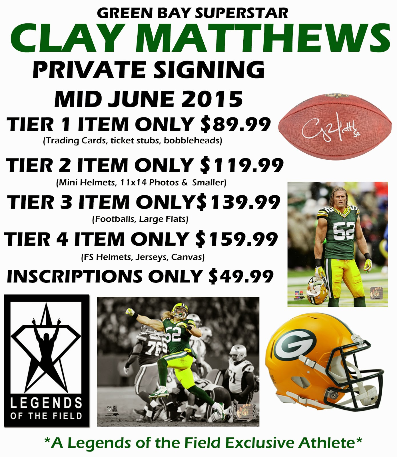 Clay Matthews Private Autograph Signing 6/2015