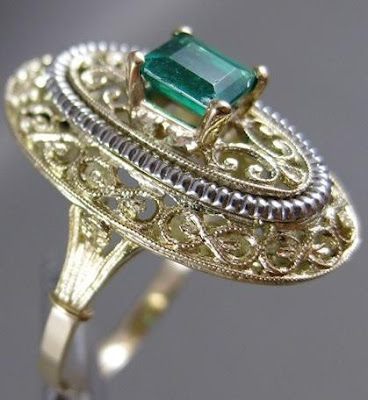 Emerald Filigree Jewellery