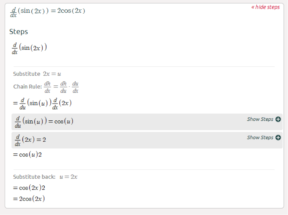 Symbolab Blog High School Math Solutions Derivative Calculator The Chain Rule