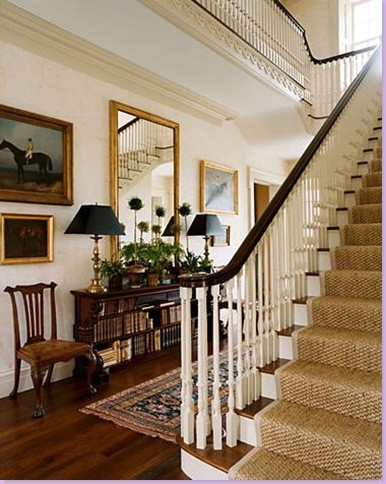 Seagrass stair runner shine your light for American house interior design