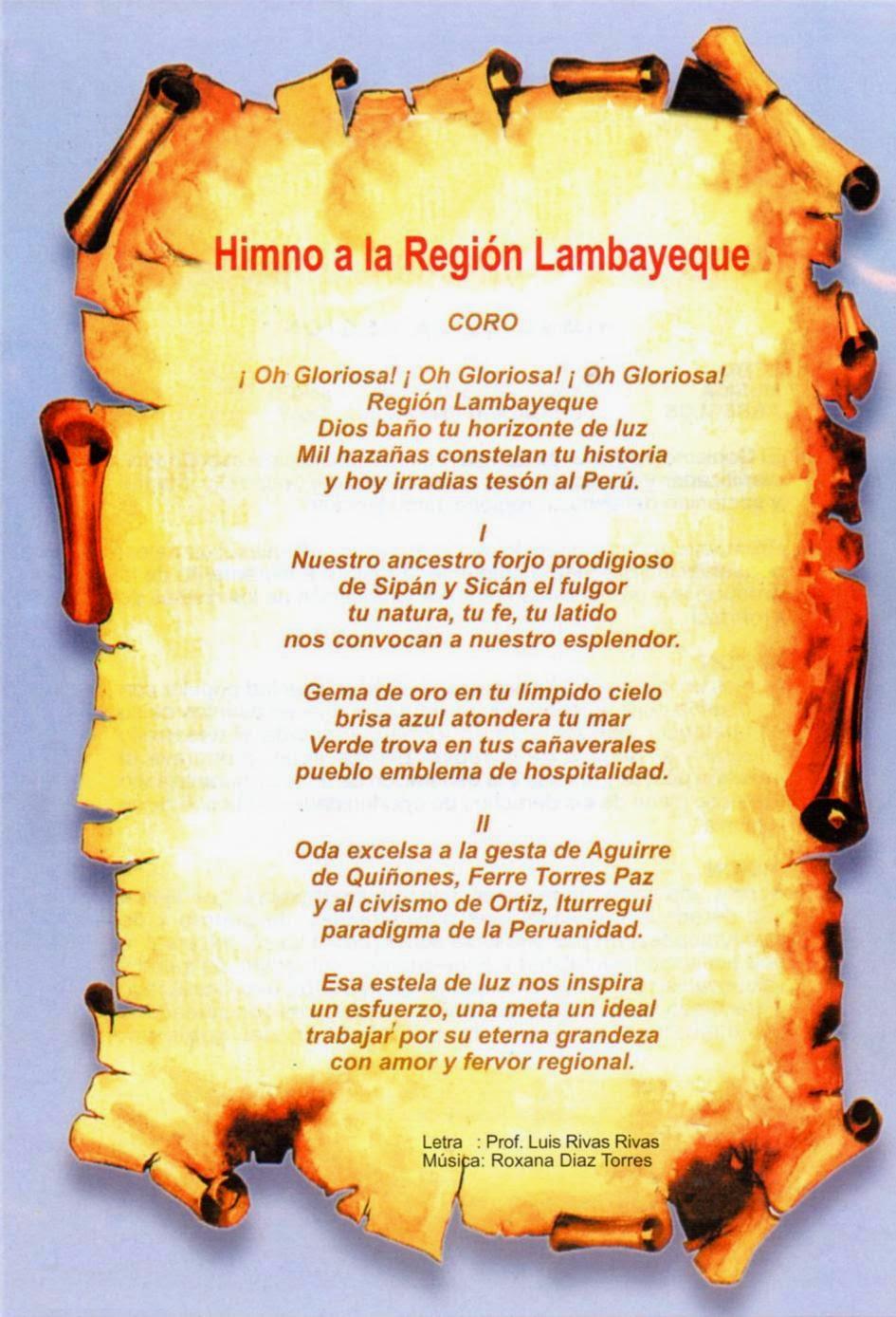 himno region lambayeque: