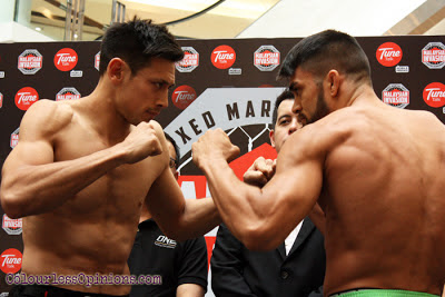 Peter Davis vs Ariel Sexton MIMMA Grand Finals ONE FC superfight weigh-in