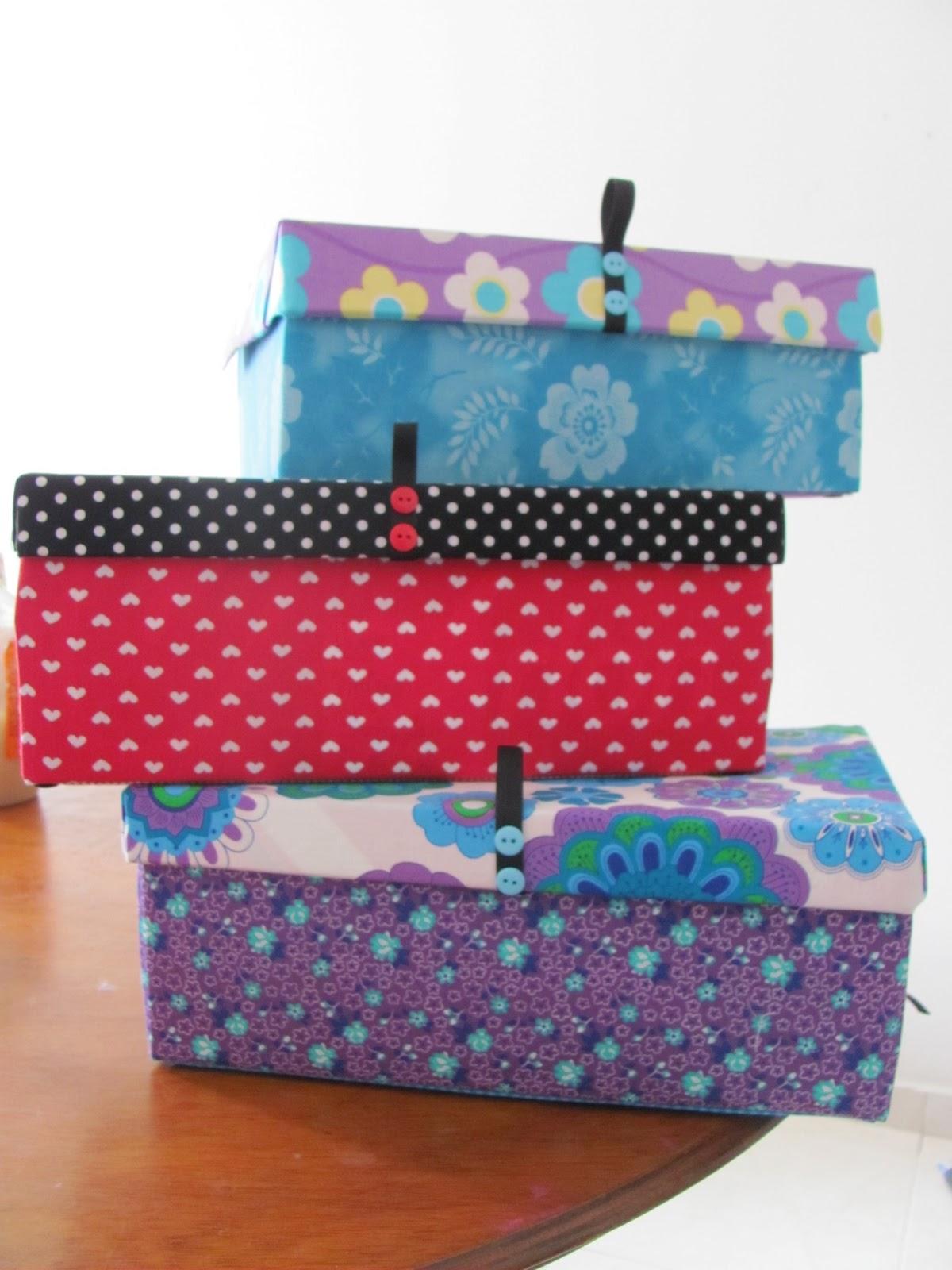 Mariagujas cajas decoradas con lindas telas listas para guardar con estilo - Decoracion de cajas ...