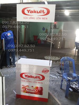 booth bán hàng sữa chua