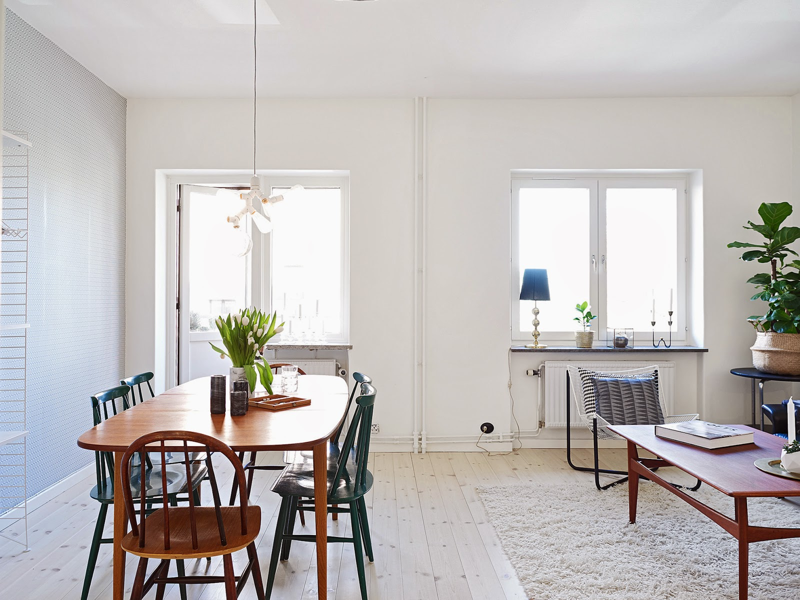 my scandinavian home a cool funkis style apartment in gothenburg. Black Bedroom Furniture Sets. Home Design Ideas
