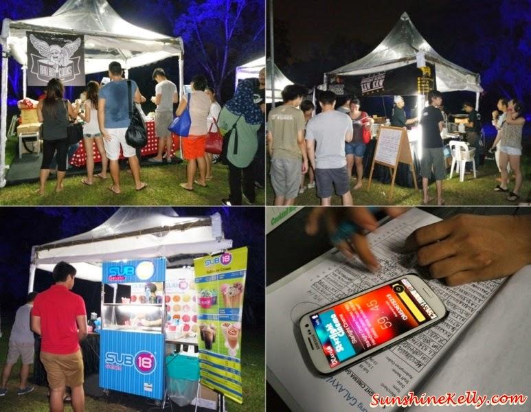 Starlight Cinema, Samsung Galaxy Life App, galaxy life app, food stalls, food vendors