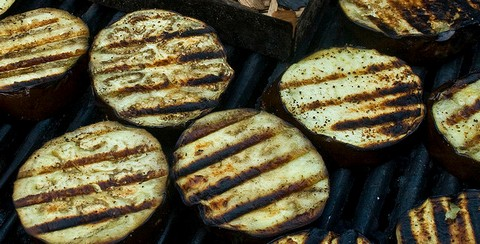 Grilled Eggplants with Thyme and Oregano