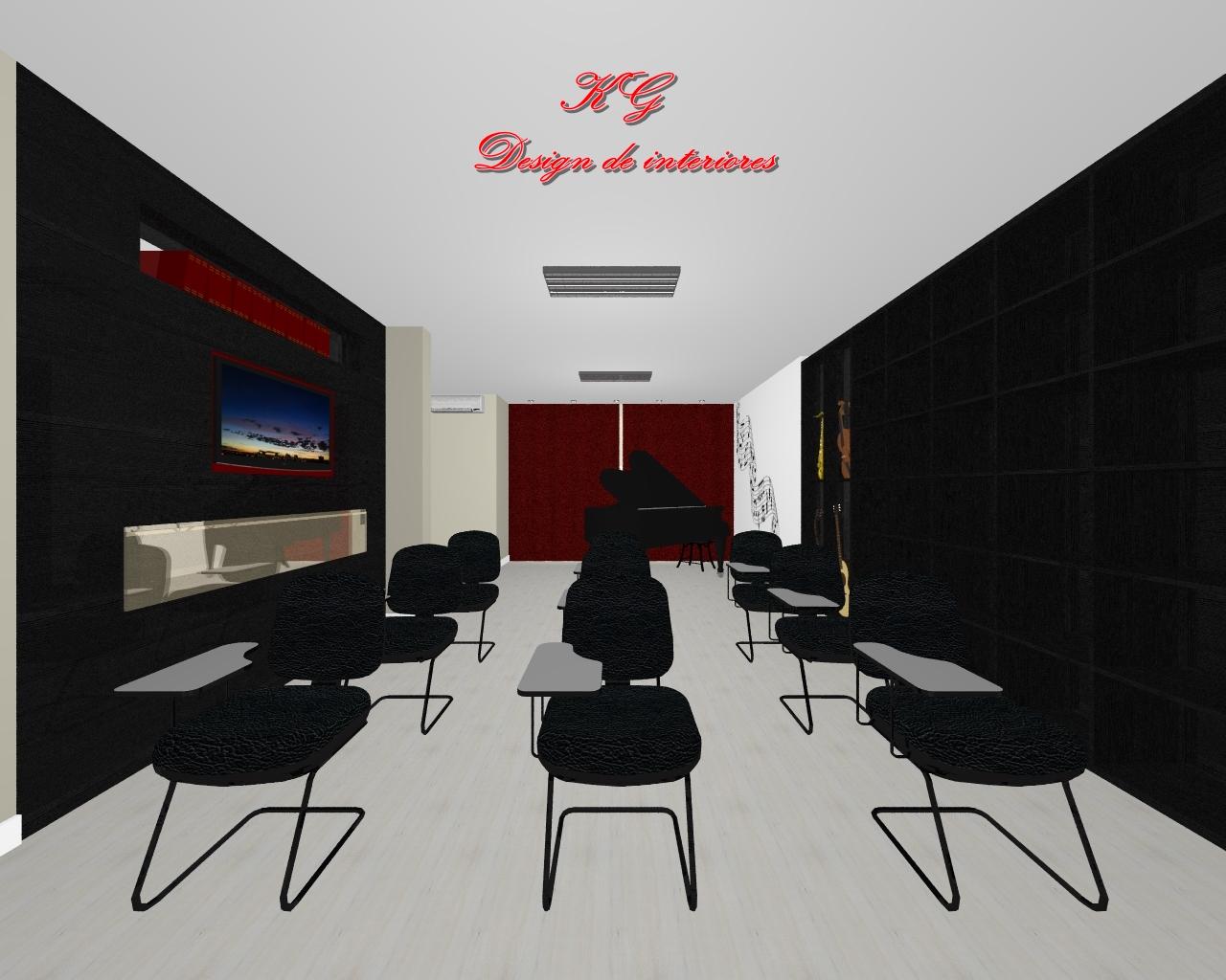 Design De Interiores Sala De Aula Para M Sica