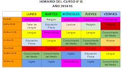 Horario curso 2014/15