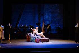 Ryedale Festival Opera - The Coronation of Poppea, with Elizabeth Holmes (Poppea) and Stephanie Marshall (Nero) Photo Emma Lambert