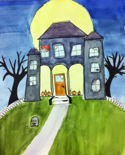 Haunted Places In Las Vegas 2014: Room 101 Art: Happy Halloween Haunted Houses, Teen Class