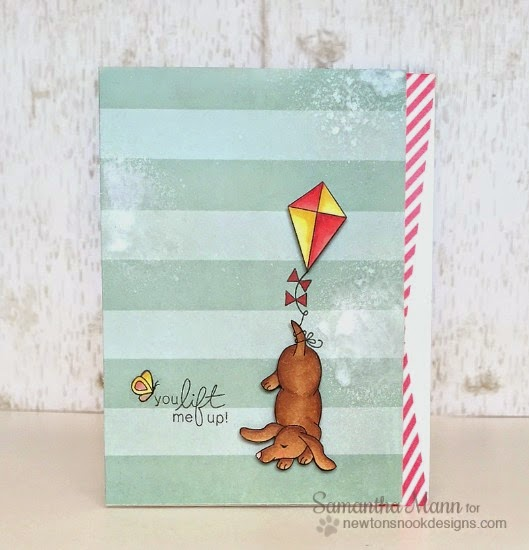 Dachshund with Kite Card by Samantha Mann | Delightful Doxies Stamp set by Newton's Nook Designs