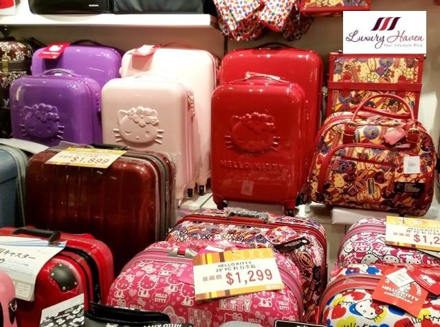 sogo causeway bay hello kitty luggage bags
