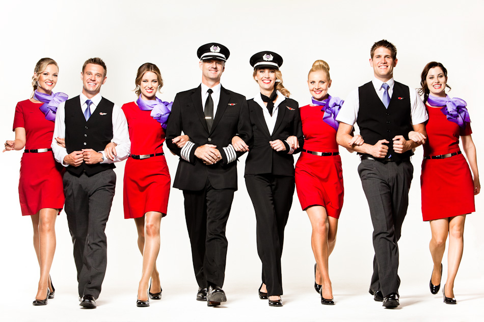 Virgin air hostess uniform