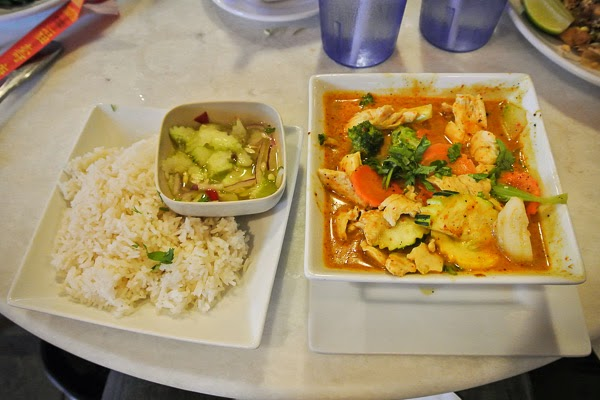 Curry at The Smiling Elephant Thai Restaurant in Nashville Tennessee