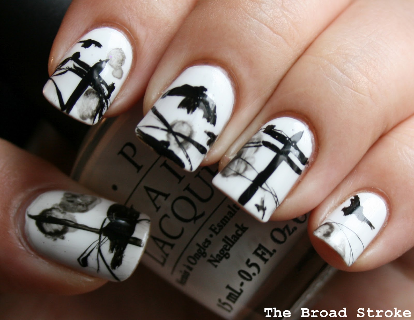 The Broad Stroke: Nail Art: Birds On A Wire