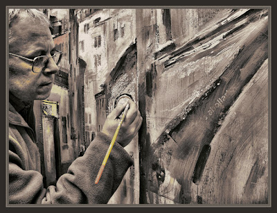 PAINTER-PAINTING-BERGA-URBAN-LANDSCAPE-PHOTO-ERNEST DESCALS-